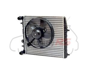 Chladič vody Fabia I, II, III, Rapid, Roomster, Polo, Cordoba, Toledo IV, Ibiza III, IV komplet s ventilátorom