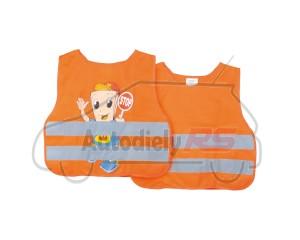 Reflexná vesta detská oranž potlač