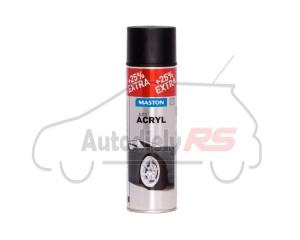 MasAutoACRYL spray Black matt 500ml