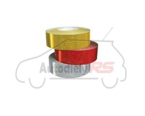 Reflexný pás 50mmx50m biely ECE 104 pevný povrch