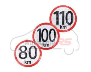 Samolepka 100km/195mm reflexná 195mm