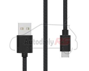 Micro USB kábel čierny 1,5m 2A
