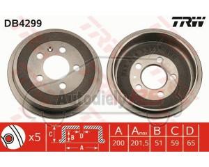 Bubon brzdy TRW Fabia I, II, III, Polo, Ibiza III, IV, Cordoba
