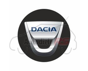 Samolepka Dacia 4ks disky čierna 50mm