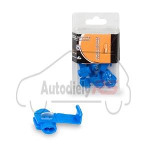Rýchlospojka dvojkáblová modrá KW-4 10ks